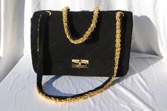 WANT WANT WANT WANT!!!!! Vintage CHANEL bag the original 1950's 2 55 quilted jersey bag restored original Chanel handbag bag by thekaliman. $2,000.00, via Etsy.