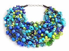 HANDICRAFT WORKSHOP KAMA4you recommends:  hand-braided, original necklace.  To Like, To Love, To BUY :-)  Necklace is made of glass or acrylic beads