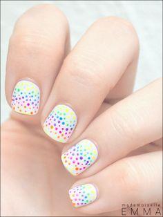 Neon polka dots - Miss Emma