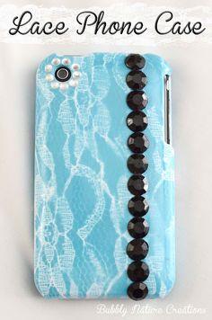 DIY Lace Phone Case!!!