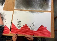 wasco en pakpapier, thema sinterklaas, creatieve techniek