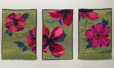 Valentine Wall hanging Weaving Flowers Home Decor Bright