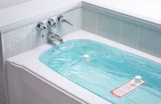 Water storage for your bathtub, use in case of emergency, stores about 100 gallons of water up to 4 weeks