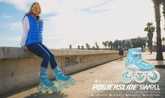 HIGH MANEUVERABILITY AND CONTROL  Powerslide Swell Fitness Inline Skates are made for fast, intense skating.