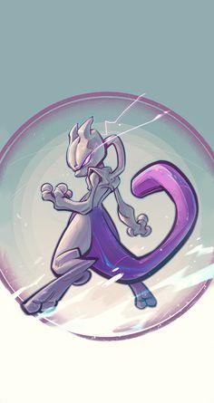 Mewtwo, Enrique Rivera on ArtStation Pokemon Mewtwo, Pokemon Fan Art, Cool Pokemon, Pokemon Go, Charizard, Pokemon Cards, Pokemon Legal, Pokemon Pictures, Catch Em All