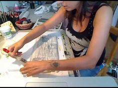 MANI DI LARA - tela materica con decoupage - YouTube