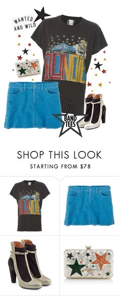 """""""Band Tees"""" by mmk2k ❤ liked on Polyvore featuring MadeWorn, Title Nine, Maison Margiela and Elie Saab"""