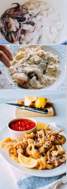 Fried Calamari, super crisp and tasty