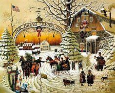 Charles Wysocki I Christmas Greeting.