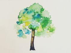 Image result for watercolor tree