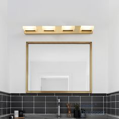 Nordic LED Mirror Front Light Brass Acrylic Wall Lamp Bedroom Living Room JQ3315 Contemporary Wall Lights, Modern Wall Lights, Lampe Applique, Fitted Bedrooms, Lighting Suppliers, Led Wall Lamp, Led Mirror, Chandelier Pendant Lights, Bedroom Lamps