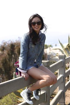 A Gap jean jacket as featured on the blog Mulberry & Melrose.