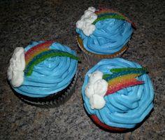 Rainbow Dash Cutie Mark Cupcakes
