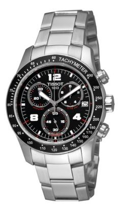 Tissot Men's T0394171105702 Tissot V8 Black Chronograph Dial Watch at http://suliaszone.com/tissot-mens-t0394171105702-tissot-v8-black-chronograph-dial-watch/