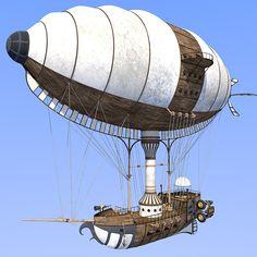 Jet Zeppelin Transportation Themed 1971s
