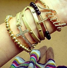 SALE: Gold Faith Stack Set $16 | Complimentary US Shipping | SHOP www.popofchic.com (link in profile)Follow