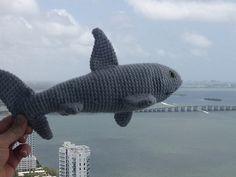 Ravelry: Sharky Stuffed Toy, free #crochet pattern by Erika Olimpiew, amigurumi, stuffed toy, #haken, gratis patroon (Engels), haai, knuffel, speelgoed, #haakpatroon