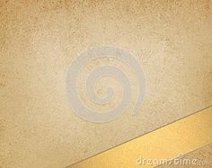 Warm gold brown background, beige or off white color, abstract vintage grunge background texture, earthy country western tone, beautiful gold ribbon angled in bottom corner with copyspace for text or image, old brown paper for website template