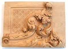 headboard wood carving place on top | Carved Wood Leaves | Carving Wood