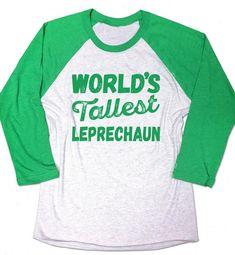 b4e1bfcdc World's Tallest Leprechaun Shirt. Leprechaun shirt. Funny Mens Irish t-shirt.  St Patricks day shirt.