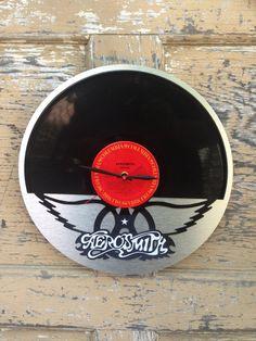 Re Purposed Recycled Vinyl Record Aerosmith Vinyl By ReSpinIt ·  AerosmithVinyl RecordsClocksVinyls
