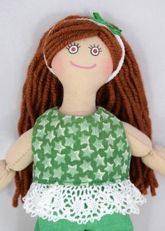 Doll With Red Hair  Kids Doll  Girl Doll  Doll Clothes