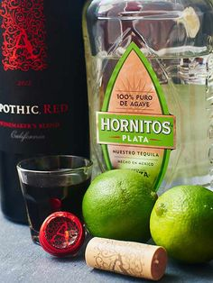 A little sweet, a little tart, and a whole lot of yummy. The Devil's Margarita. Lime, sugar, tequila and red wine!