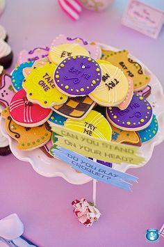 Alice in Wonderland 'Eat Me', 'Try Me', 'Take One' sugar cookies