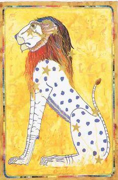 AstroSpirit / Leo ♌ / Fire / Lion / Egyptian Zodiac (From Dynasty revisited) Datum : 23 juli – 22 augustus Design: Kantaro Fire Lion, Zodiac Elements, Ancient Egypt Art, Lion And Lioness, 12 Tribes Of Israel, Zodiac Months, Postcard Art, Zodiac Art, Aries