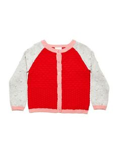 Missoni Girls 2-6x Quilted Colorblock Cardigan  Red 2T