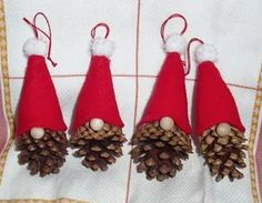 Pine cones Tomte Ornament How to make