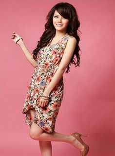 Stylish Floral Print Mesh Back Hi-Lo Sleeveless Infinity Dress on BuyTrends.com, only price $9.83