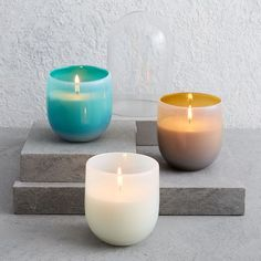 Signature Glass Candle   west elm
