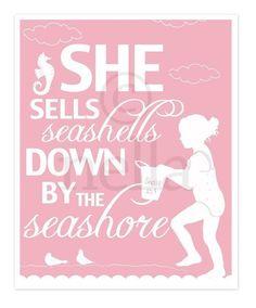 She Sells Seashells Art Print 8x10 by nelladesigns on Etsy