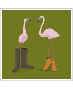Fashion flamingos of Speakerine now on JUNIQE!