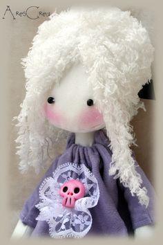Philomena handmade gothic lolita cloth doll with pink by AresCrea, $60.00