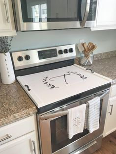 Stove Top Cover Custom Wooden Personalized Covers
