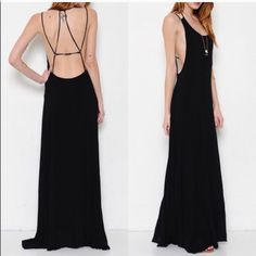 HOLD for Natalie The CALLIOPE sexy back maxi dress - BLACK size SMALL Dresses Maxi