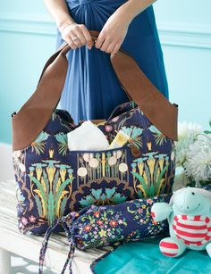 """Wildflower"" Diaper Bag Collection by Amy Butler, available at ModMomMaternity.com!"