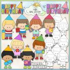 Clip Art and Digital Stamps Download with 10 Color Images and 9 Black and White Images.  All images are high quality 300 dpi for beautiful printing...