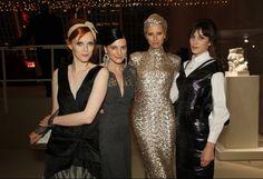 Karen Elson, Tabitha Simmons, Karolin Kurkova, and Alexa Chung...LOVE your smizing xxx