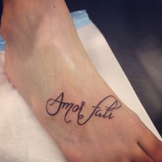 My new tattoo - 'Amor fati' means 'love of fate' in Latin and is about fully embracing all that life throws at you, the good and the bad.