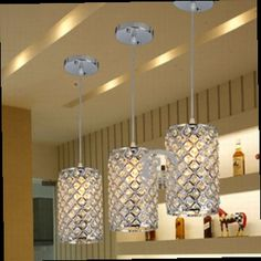 159.60$  Buy now - http://alid8l.worldwells.pw/go.php?t=32673169321 - 3pcs/lot modern single LED crystal chandeliers lights modern crystal lamps aisle high power lights 159.60$