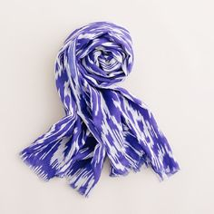 JCrew Ikat Printed Scarf. Beautiful colour.