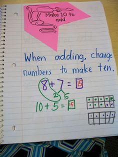 "Miss Van Maren's Fantastic First Grade: Math Journal: ""Tools for your Toolbox"" make ten"
