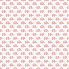 Papel digital. Elefantes rosa.