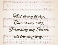 One of my favorite hymns. It's simple, but can  really release your spirit.