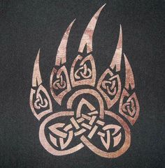 Celtic Knot Wolf Paw Print Quilting applique and 50 similar items