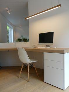Modern Desk Design - Welcome OyunRet Mesa Home Office, Home Office Space, Home Office Desks, Home Interior Design, Interior Architecture, Home Desk, Office Interiors, Sweet Home, House Design