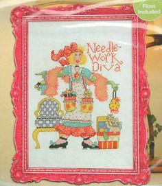 "BUCILLA ""NEEDLEWORK DIVA"" COUNTED CROSS STITCH KIT ~ SEALED"